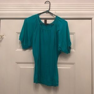 Express Teal Top with Dolman Sleeves